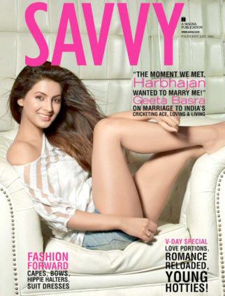 Geeta Basra On The Cover Of Savvy,Feb 2016