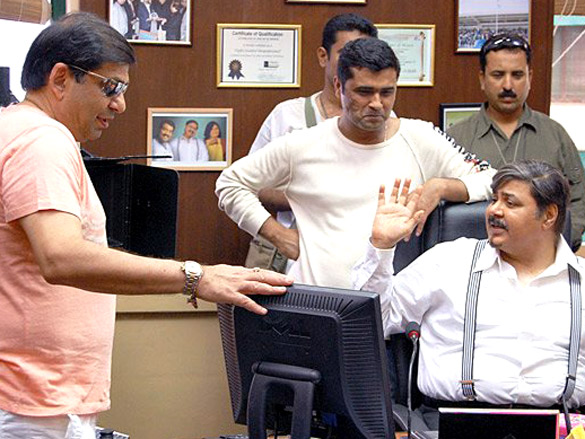 On The Sets Of The Film Bhoothnath (2008) Featuring Satish Shah