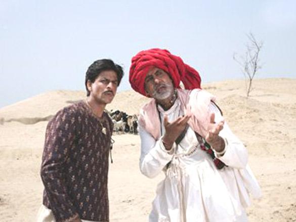 Movie Still From The Film Paheli,Shahrukh Khan,Amitabh Bachchan