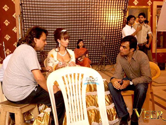 On The Sets Of The Veer (2009) Featuring