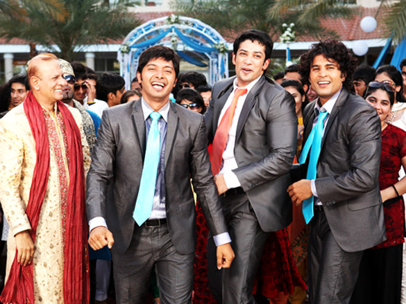 Movie Still From The Film Will You Marry Me?,Shreyas Talpade,Muzammil Ibrahim,Rajeev Khandelwal