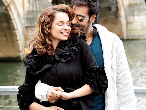 Movie Still From The Film Tezz,Kangna Ranaut,Ajay Devgn