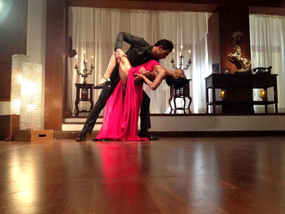 On The Sets Of The Film Daal Mein Kuch Kaala Hai!,Veena Malik