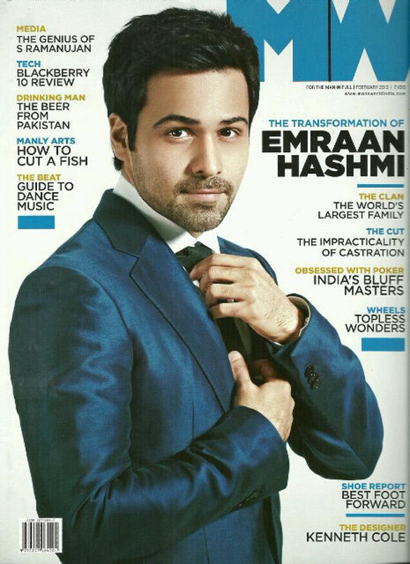 Emraan Hashmi On The Cover Of MW Magazine,Feb 2013