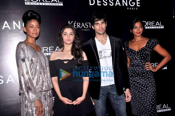 Carol Gracias, Alia Bhatt, Sidharth Malhotra, Nina Manuel