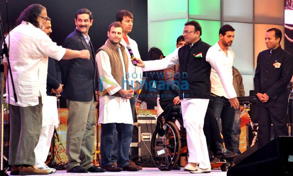 Tushar Gandhi, Rahul Gandhi, Annu Kapoor, John Abraham, Naveen Jindal