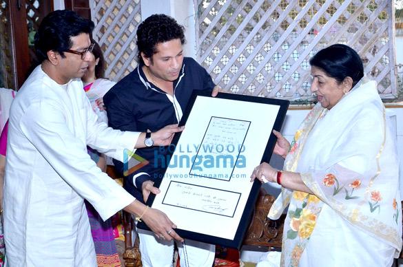 Raj Thackeray, Sachin Tendulkar, Lata Mangeshkar