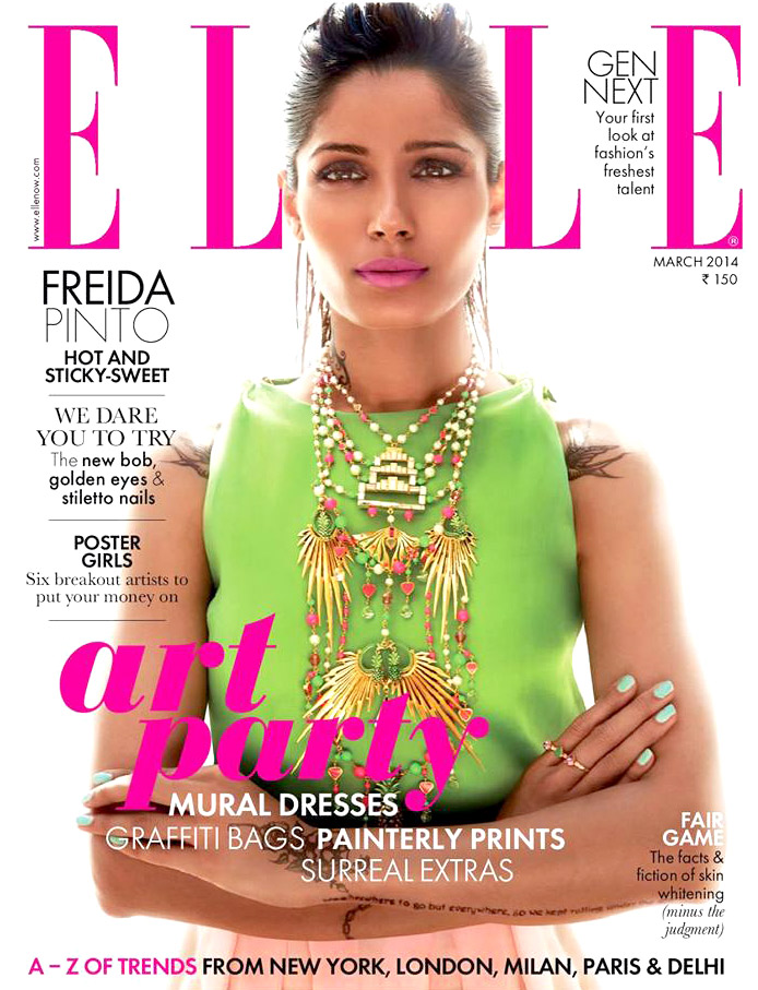 Freida Pinto On The Cover Of Elle,Mar 2014