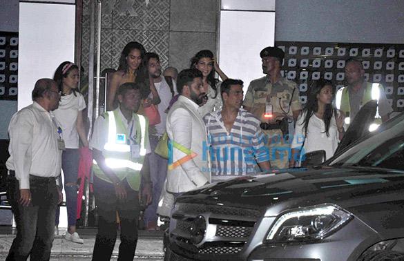 Lisa Haydon, Abhishek Bachchan, Jacqueline Fernandez, Akshay Kumar