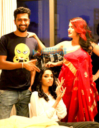 Sona Mohapatra, Sobhita Dhulipala & Vicky Kaushal shoot for the Qatl-E-Aam Unplugged music video for Raman Raghav 2.0