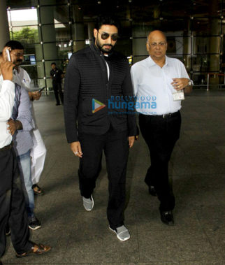 Abhishek Bachchan, Suniel Shetty, Dino Morea & Amy Jackson snapped at the airport