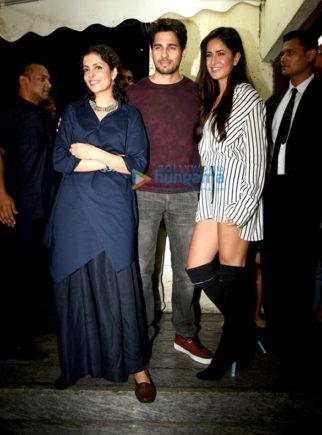 Sidharth Malhotra, Katrina Kaif & Ranveer Singh grace special screening of 'Baar Baar Dekho'