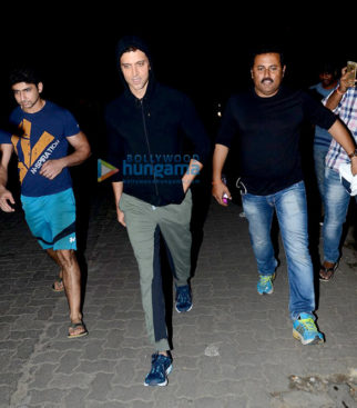 Hrithik Roshan snapped post jogging in Juhu
