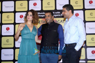 Kangna Ranaut unveils Chetan Bhagat's book 'One Indian Girl'