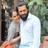 Riteish Deshmukh & Genelia Dsouza snapped post lunch at Pali Bhawan