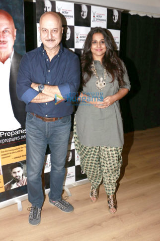 Vidya Balan snapped at Anupam Kher's Acting Class' students interaction