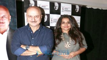 Vidya Balan snapped at Anupam Kher's Acting Class' students interaction