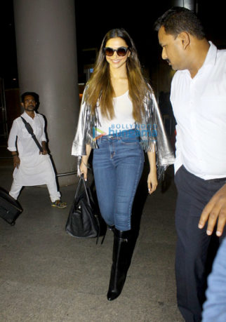 Deepika Padukone arrives back from NYFW