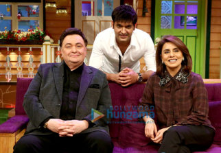 Rishi Kapoor and Neetu Kapoor Singh snapped on sets of The Kapil Sharma Show