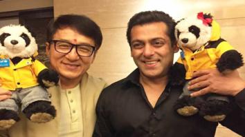 Jackie Chan bonds with superstar Salman Khan