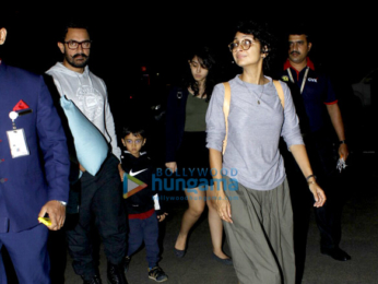 Aamir Khan departs with his family for holidays