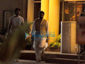 Abhishek Bachchan, Aishwarya Rai Bachchan & Kunal Kapoor snapped at Lilavati Hospital