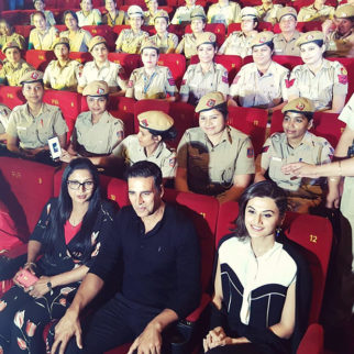 Check out Akshay Kumar and Taapsee Pannu hold special screening of Naam Shabana for female police officers in Delhi