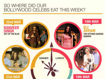 Find out Where did our favourite Bollywood celebs eat this week and what was on their plate!