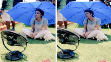 Parineeti Chopra is struggling to beat the heat on the sets of Golmaal Again in Hyderabad