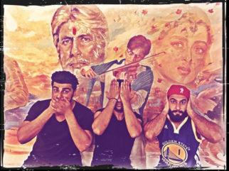 Ranveer Singh, Arjun Kapoor and Ali Abbas Zafar recreate Gandhi's famous monkeys