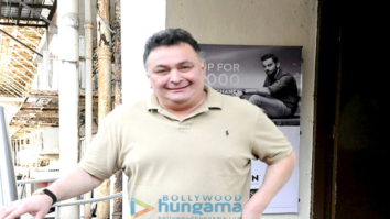 Rishi Kapoor snapped post a movie screening at PVR Juhu