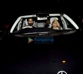 Shahid Kapoor & Mira Rajput snapped heading for a drive in their new Mercedes S Class