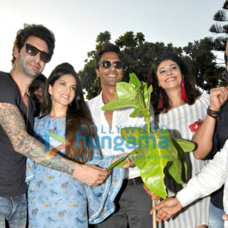 Arjun Rampal, Sunny Leone and others grace the sapling plantation drive