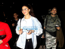 Jacqueline Fernandez, Jackie Shroff and John Abraham snapped at the airport