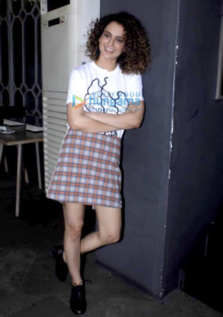 Kangna Ranaut kick starts the promotions of 'Simran'