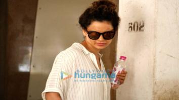 Kangna Ranaut snapped post visit to skin clinic in Bandra
