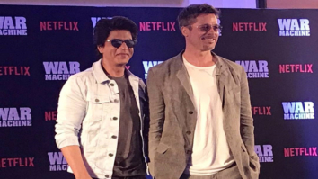 OMG! Superstars Shah Rukh Khan and Brad Pitt in one frame for Brad's Netflix film War Machine promotion is breaking the Internet-1