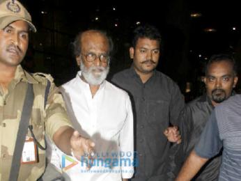 Rajnikant arrives in Mumbai amidst heavy security
