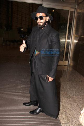 Ranveer Singh snapped at the airport