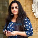 Vidya Balan snapped post dubbbing in Bandra