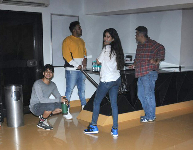 Check out: Sridevi's daughter Jhanvi Kapoor and Shahid Kapoor's brother Ishaan Khattar make it a movie night