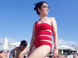 HOT Sanjay Dutt's wife Maanayata Dutt raises hotness quotient in a red swimsuit