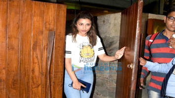 Parineeti Chopra and Vikas Bahl snapped post a meeting at Indigo Bandra