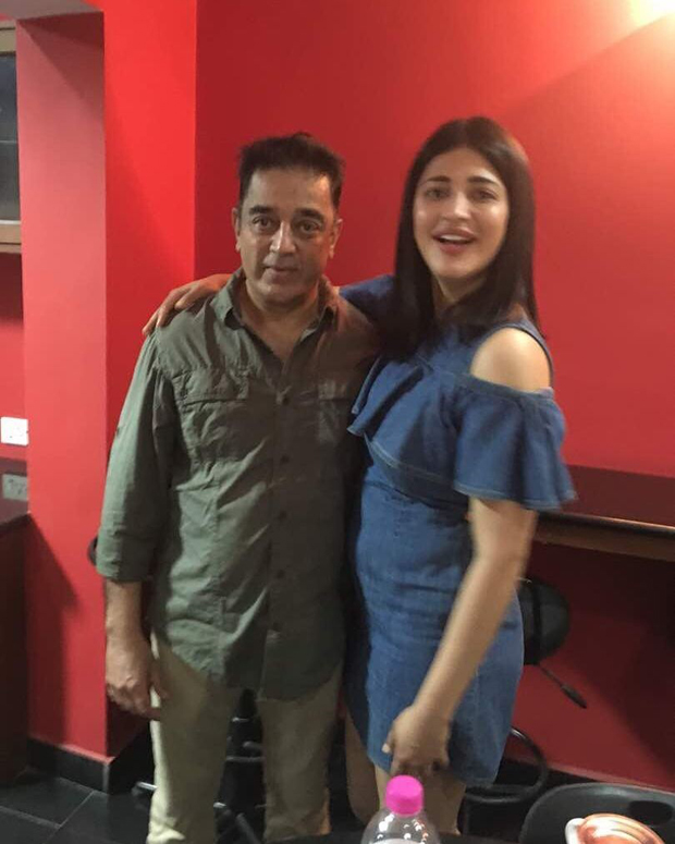 Shruti Haasan clicked with superstar father Kamal Haasan at the special screening of Behen Hogi Teri-2
