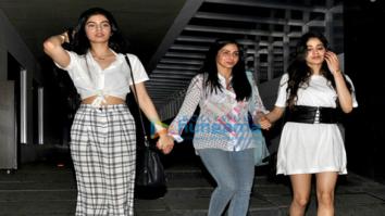 Sridevi and her daughters Jhanvi Kapoor and Khushi Kapoor snapped post dinner at Hakkasan