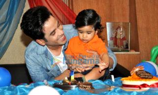 Tusshar Kapoor celebrates son Laksshya's 1st birthday at his home in Juhu