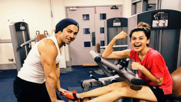 Workout Buddies: Judwaa 2 stars Varun Dhawan and Taapsee Pannu have a unique way of working out