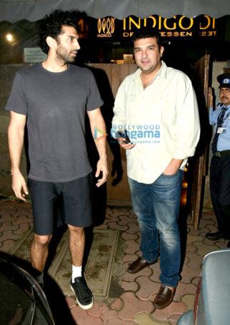 Aditya Roy Kapur and Sidharth Roy Kapoor snapped at Indigo