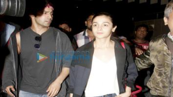 Alia Bhatt and Varun Dhawan arrive from New York after IIFA 2017