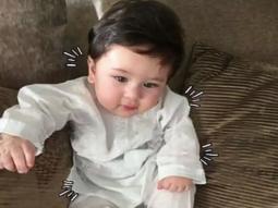 CUTE! This image of Saif Ali Khan and Kareena Kapoor Khan's little munchkin Taimur chilling like a nawab is priceless